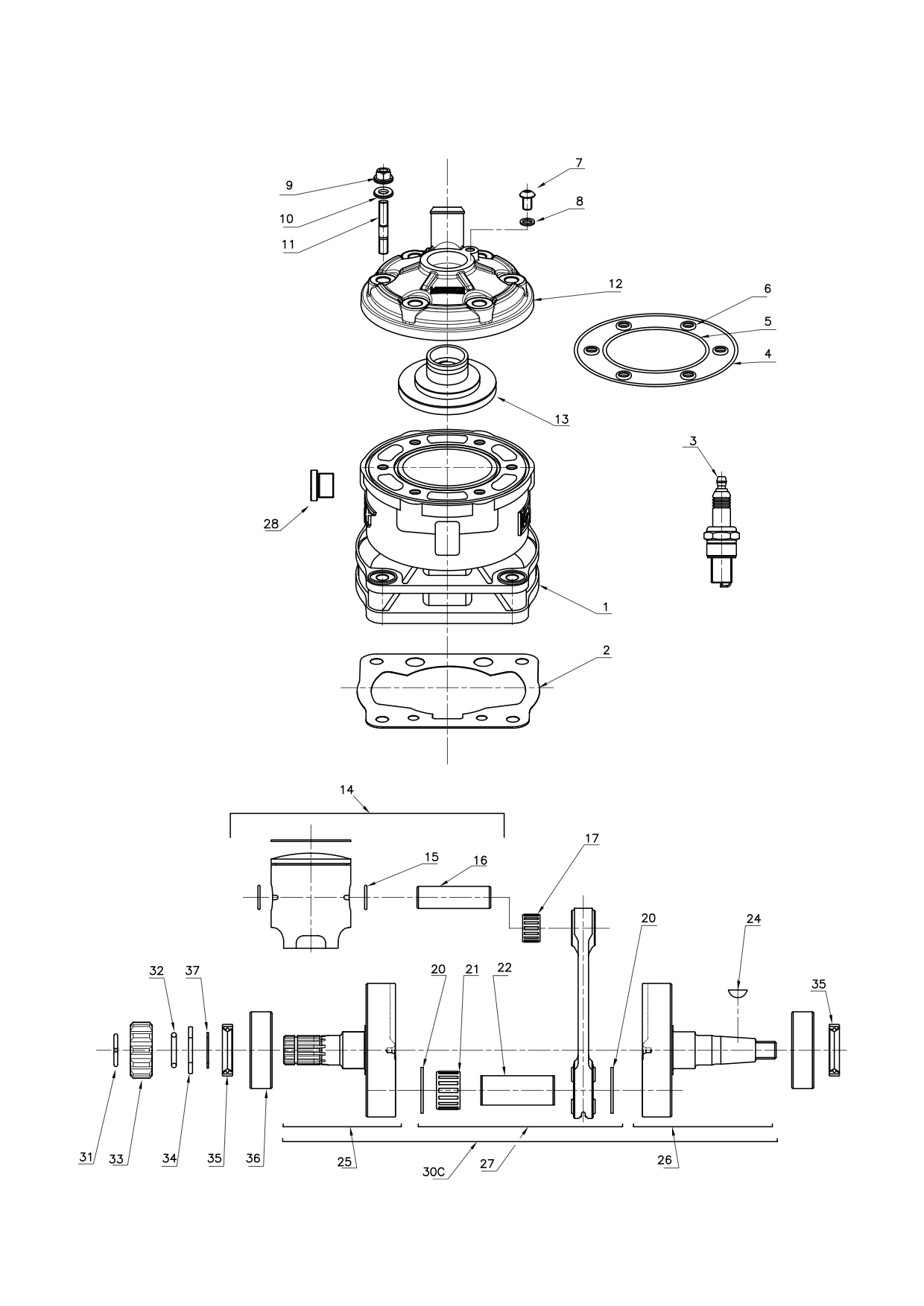Cylinder & Crankshaft