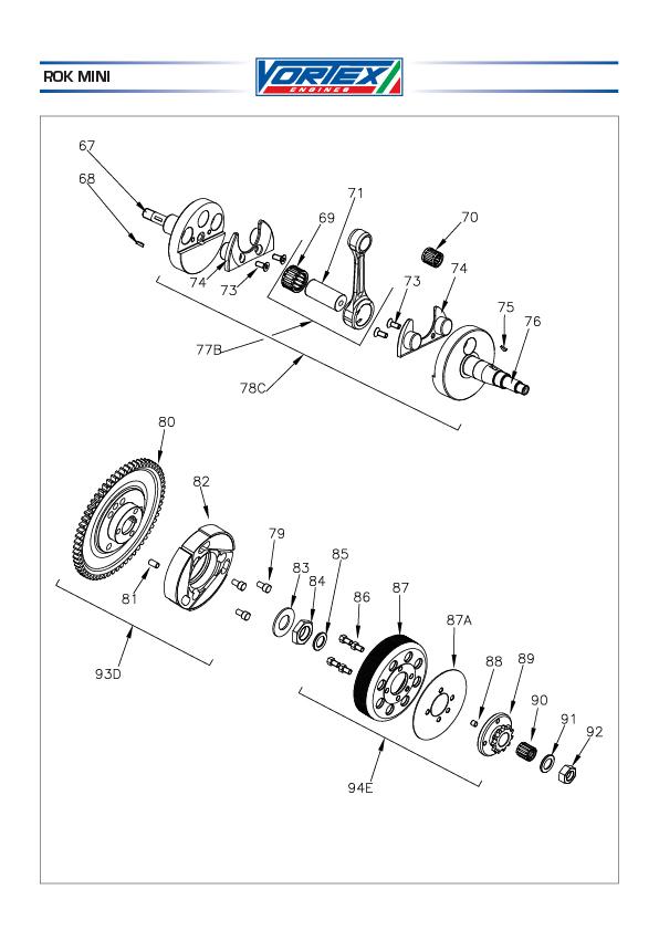 Crankshaft, Pistons + Clutch